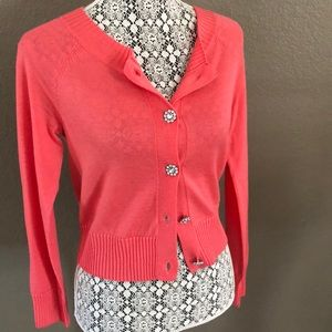 H&M cardigan sweater bling buttons small